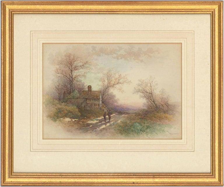 Stephen James Bowers (fl.1874-1892) - Two English Watercolours, Rural Landscapes - Art by Stephen James Bowers