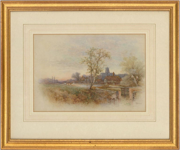 Stephen James Bowers (fl.1874-1892) - Two English Watercolours, Rural Landscapes - Victorian Art by Stephen James Bowers