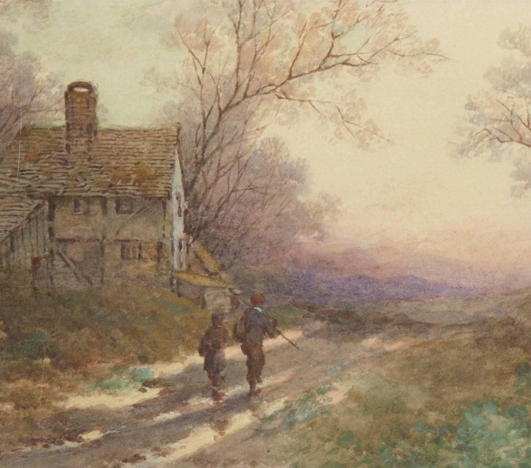 An excellent pair of late 19th century English watercolours by listed artist Stephen James Bowers. The delicate handling of the medium and romantic compositions are typical of Bowers' style, presenting a quaint vision of the English countryside.