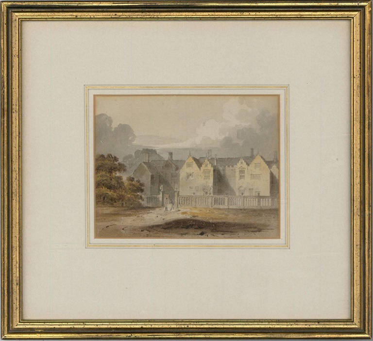 Attributed to John Chessell Buckler (1793-1894) - English Watercolour, - Painting by John Chessell Buckler