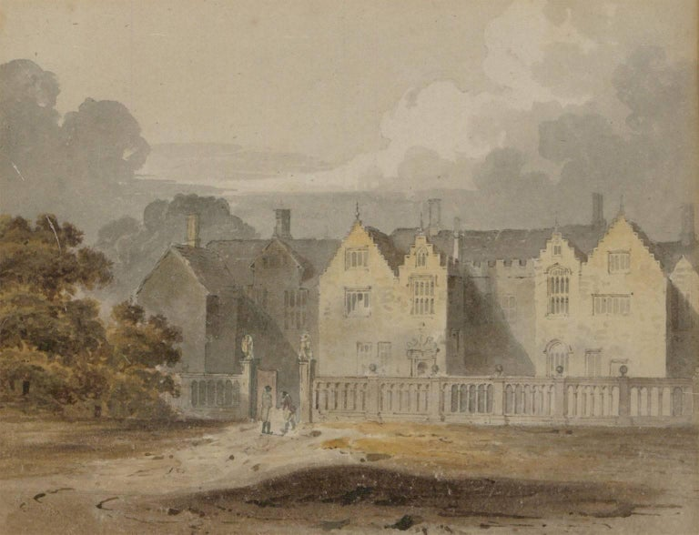 Attributed to John Chessell Buckler (1793-1894) - English Watercolour, - Victorian Painting by John Chessell Buckler