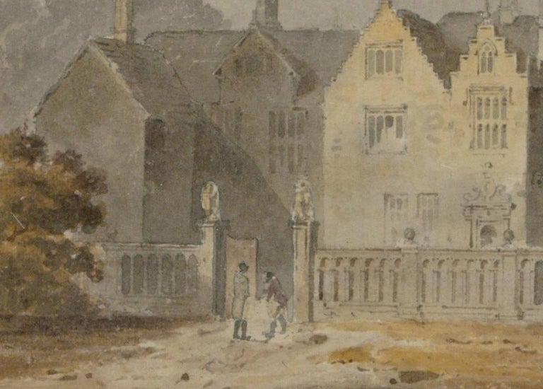Attributed to John Chessell Buckler (1793-1894) - English Watercolour, - Beige Landscape Painting by John Chessell Buckler