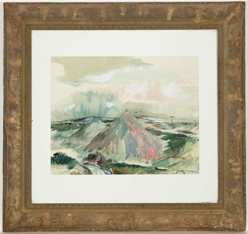 Rowland Suddaby (1912-1972) - Signed British Gouache, Pen & Ink, Coastline