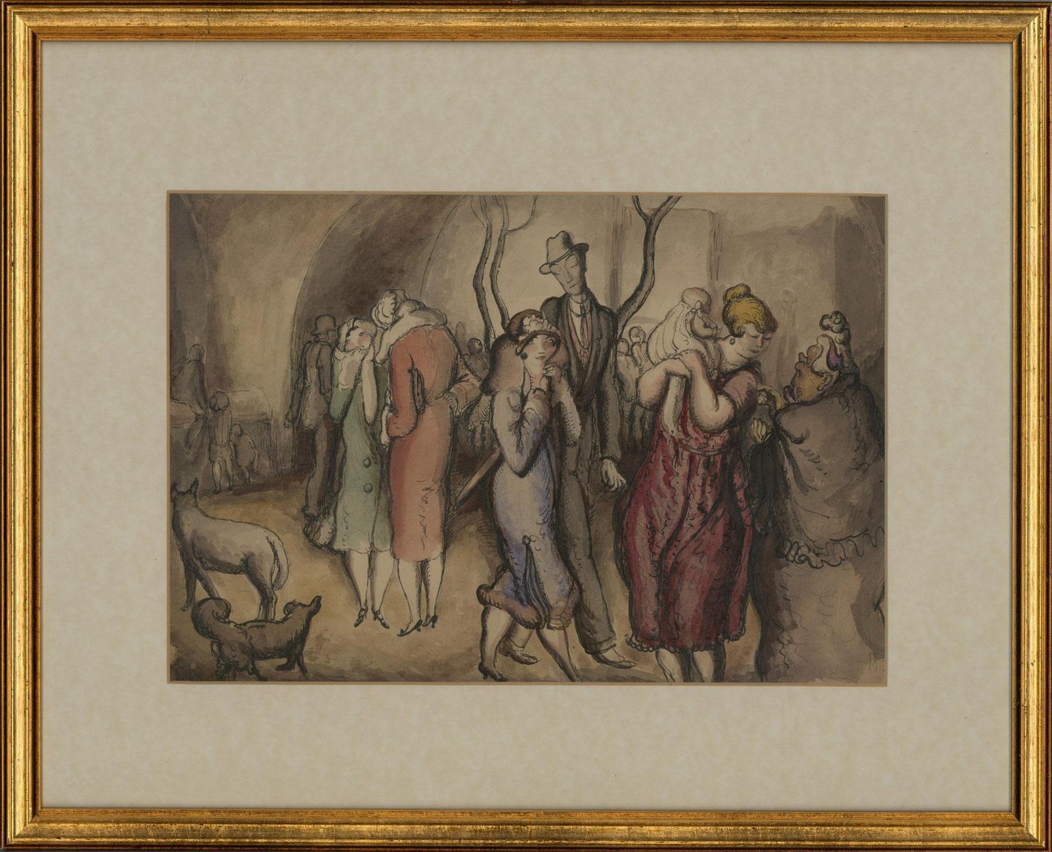 Harold Hope Read (1881-1959) - Framed Pen and Ink Drawing, Society Nightlife