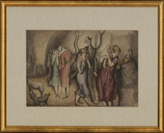 Harold Hope Read (1881-1959) - Framed Pen and Ink Drawing, Society Nightlife