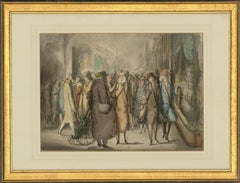 Harold Hope Read (1881-1959) - Framed Watercolour, A Busy Shopping Street