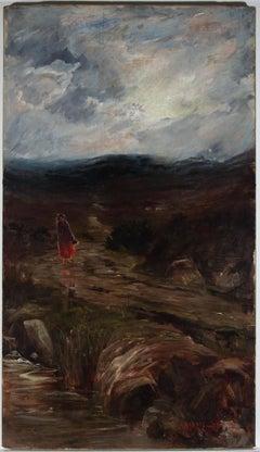 James Arthur Henry Jameson (1855-1930) - 1914 Oil, Winter, Donegal Highland