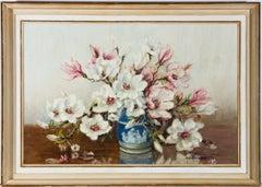 Marion Broom RWS (1878-1962) - 20th Century Oil, Still Life, Magnolia Branches