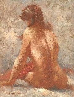 Donald Blagge Barton (1903-1990) - 20th Century English Oil, Seated Female Nude