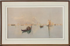 Carlo Menegazzi (1856-1920) - Early 20th Century Watercolour, Venice Lagoon