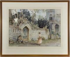 Eric Richard Sturgeon (1920-1999) - 20th Century Watercolour, Church & Figures
