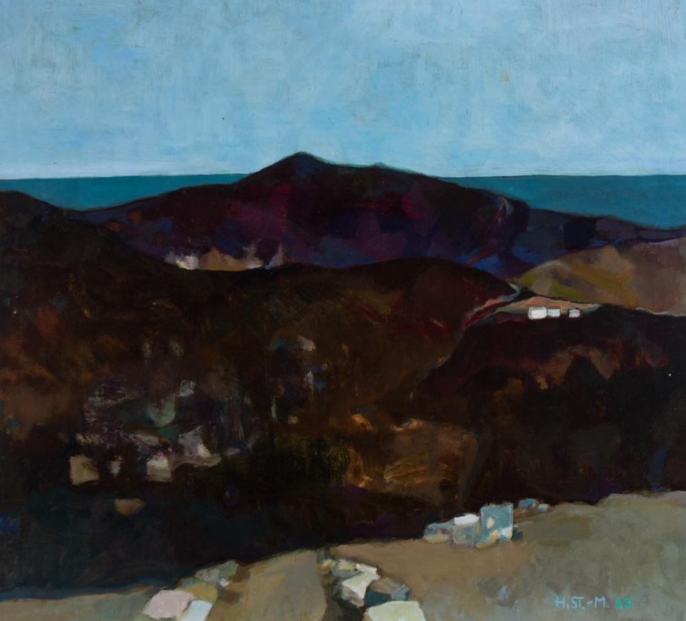 Heidy Stangenberg-Merck (1922-2014) - 1989 Oil, View of Lato, Crete