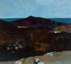 Heidy Stangenberg-Merck (1922-2014) - 1989 Oil, View of Lato, Crete