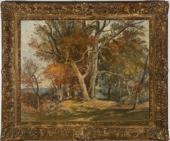 Oliver Hall RA (1869-1957) - 1941 Oil, Houghton Forest, Autumn Colours