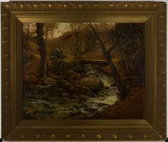 Samuel Dean (fl.1895-1938) - Late 19th Century Oil, Autumnal River Landscape