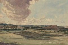 Claude Muncaster RWS, ROI, RBA, SMA (1903-1974) - Watercolour, Rolling Hills
