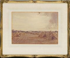 Attrib. Edmund Wimperis (1835-1900) - 19th Century Watercolour, Corn Stooks, Rye