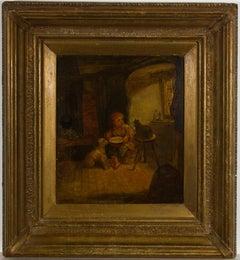 John Eaton Walker RBSA (c.1824-1896) - 1887 Oil, Rival Claimants