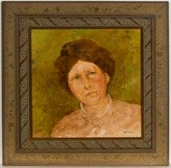 Raul Gutierrez (b.1935) - Fine 20th Century Oil, Portrait of a Victorian Lady