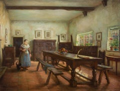 Evelyn Mary Watherston RA (1880-1952) - Signed Oil, The Refectory