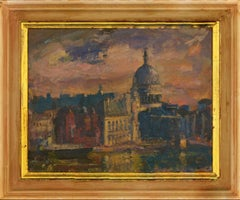 Ronald Olley (b.1923) - 2006 Oil, St. Paul's Cathedral, London