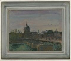 Ronald Olley (b.1923) - Fine c. 2000 Oil, Pont des Arts, Paris