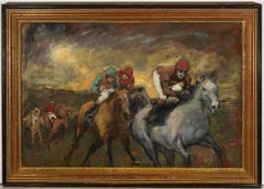 Ronald Olley (b.1923) - Framed c. 2000 Oil, The Horse Race