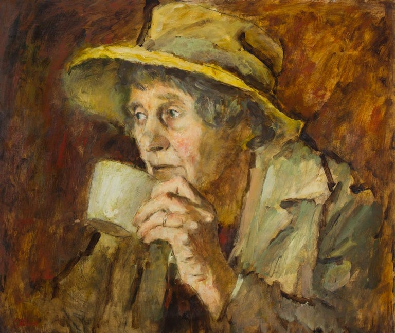 Ronald Olley (b.1923) - 20th Century Oil, A Thoughtful Moment - Impressionist Painting by Ronald Olley