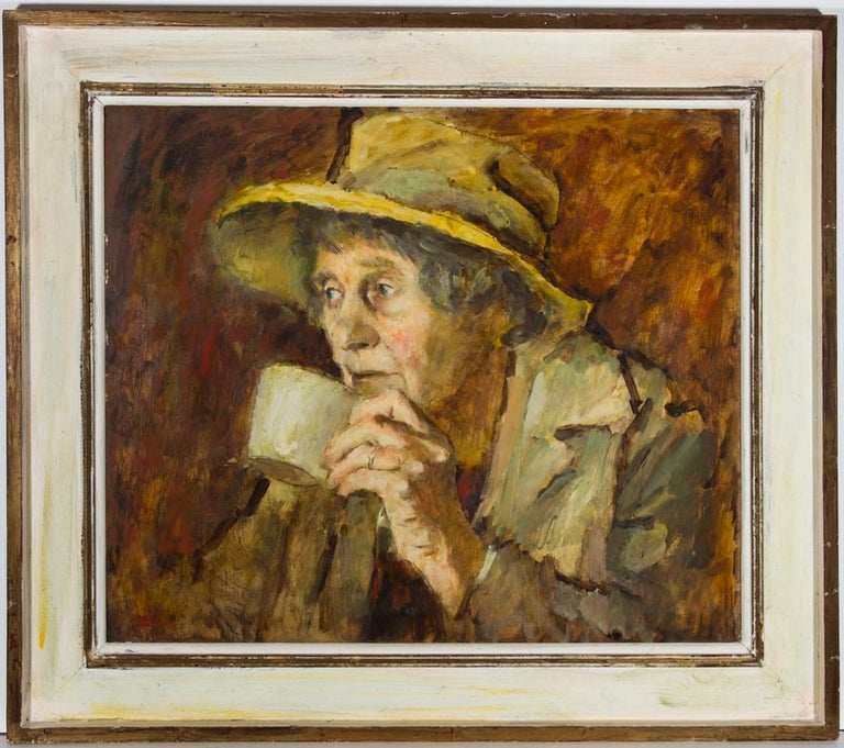 Ronald Olley (b.1923) - 20th Century Oil, A Thoughtful Moment - Painting by Ronald Olley