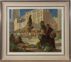 Henry Camp - Signed & Framed 1947 Oil, Scene at Dieppe
