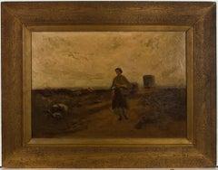 William James Dukes (1877-1936) - Signed & Framed Oil, The Gatherer