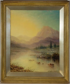 William Adolphus Knell (1801-1875) - Mid 19th Century Oil, Highland Landscape
