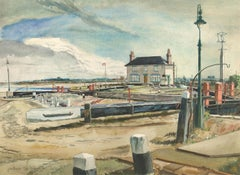 Julius Stafford Baker (1904-1988) - 1942 Watercolour, Picturesque Costal Study
