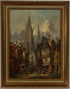 Alfred Bentley RE (1879-1923) - Framed Early 20th Century Oil, Caudebec-en-Caux