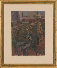 William Selby RBA, ROI, RSW (b.1933) - Signed 20th Century Oil, Brass Musicians