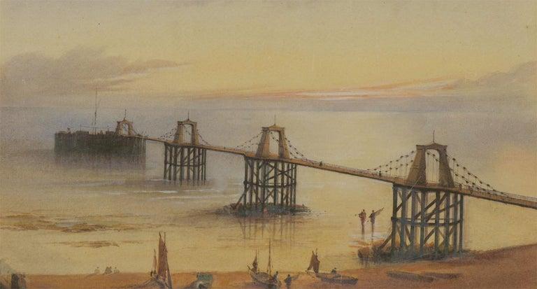 William Arthur Earp (1867-1927) - Fine Watercolour, Chain Pier Brighton For Sale 1