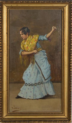 Castillo - A Pair of Framed Early 20th Century Oils, Spanish Dancers