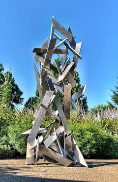 Hysteria Metal Abstract Indoor Outdoor Aluminum Modern Rustic Patina Sculpture