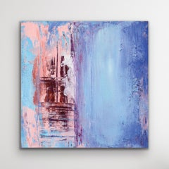 Contemporary Wall Art, Modern Abstract Painting, Indoor Outdoor Print on Metal