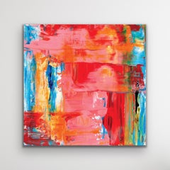 Colorful Abstract Painting, Giclee Print, Metal Wall Art, Indoor Outdoor Decor