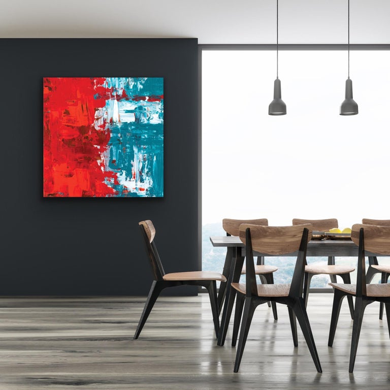 Modern Wall Art, Contemporary Decor, Large Indoor Outdoor Giclee Print on Metal For Sale 1