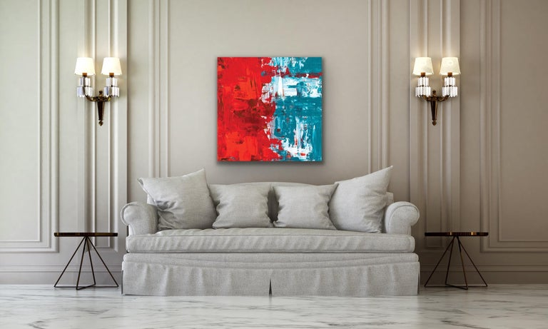 Modern Wall Art, Contemporary Decor, Large Indoor Outdoor Giclee Print on Metal For Sale 4