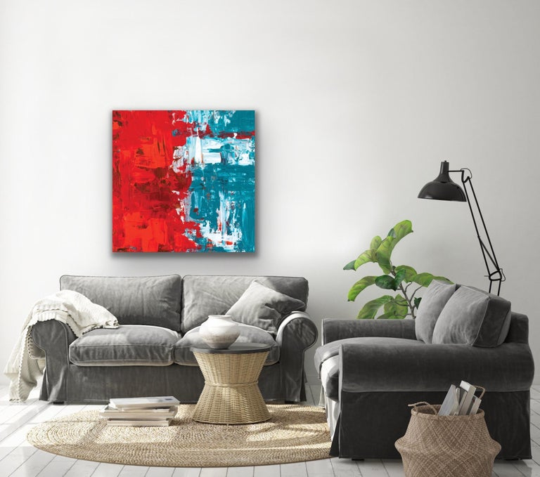 Modern Wall Art, Contemporary Decor, Large Indoor Outdoor Giclee Print on Metal For Sale 2