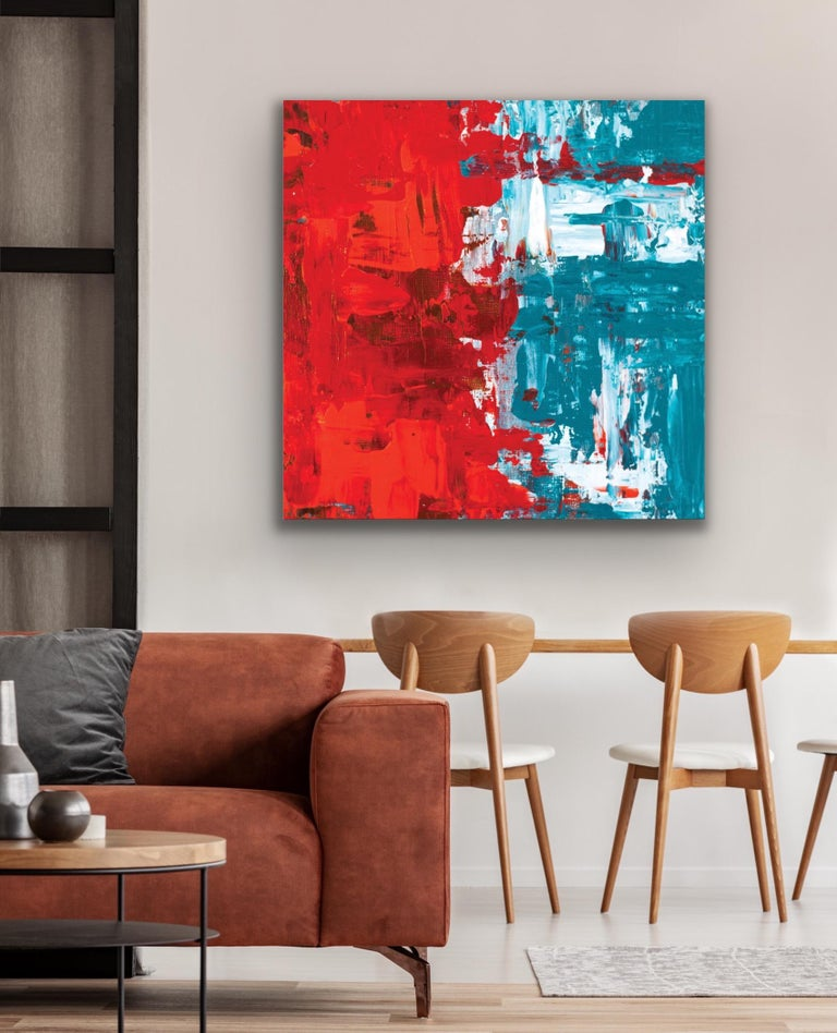 Modern Wall Art, Contemporary Decor, Large Indoor Outdoor Giclee Print on Metal For Sale 3