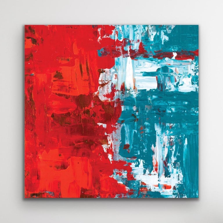 Celeste Reiter Abstract Print - Modern Wall Art, Contemporary Decor, Large Indoor Outdoor Giclee Print on Metal