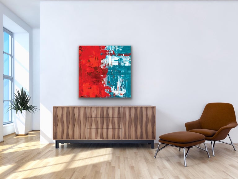 Modern Wall Art, Contemporary Decor, Large Indoor Outdoor Giclee Print on Metal For Sale 5