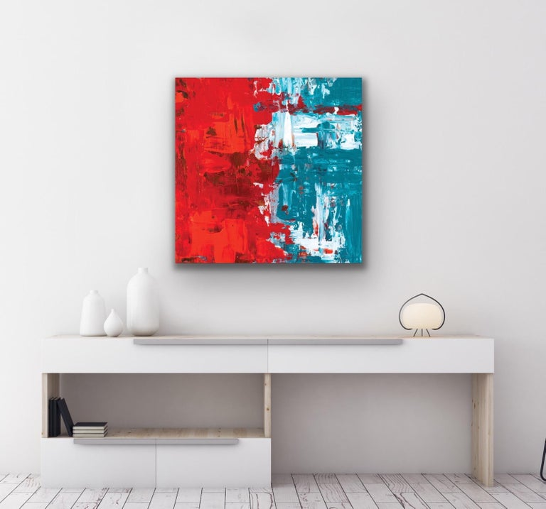 Modern Wall Art, Contemporary Decor, Large Indoor Outdoor Giclee Print on Metal For Sale 6