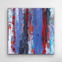 Abstract Contemporary Art, Knife Painting, Indoor Outdoor Decor, Print on Metal