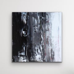 Black and White Painting, Modern Indoor Outdoor Decor, Giclee Print on Metal