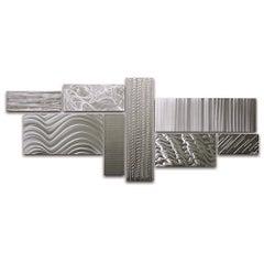 Sebastian R. Contemporary Industrial Modern Metal Hanging Wall Sculpture Set